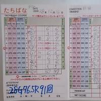 今日のゴルフ挑戦記(78)/新千葉CC「たちばな」アウト→イン(ベント)