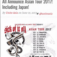 SICK OF IT ALL JAPAN TOUR 2017