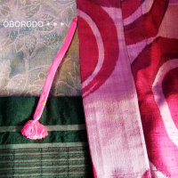 着物を仕立て直してもらった帯と銘仙の羽織