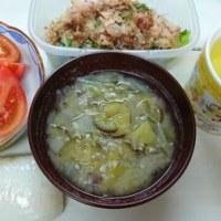 ☆サツマイモと玉ねぎみそ汁☆