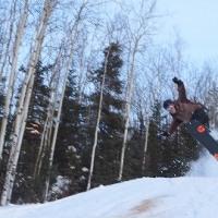 スノーボーディング@moose Mt.