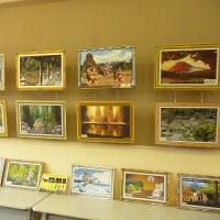 地元の郵便局でDT絵画展