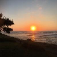 出雲の夕日
