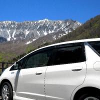 残雪の大山見学と蕎麦