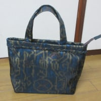 大島紬のバッグ エイト納品