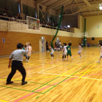 女子バスケ部 選手権県大会 1