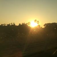 霧島の夕陽