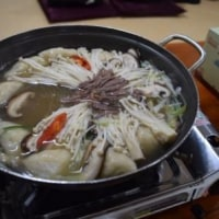 夫と行く晩冬のソウルNO12-3日目の夕食は餃子鍋