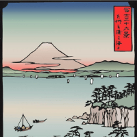 広重 富士三十六景 相州三浦之海上