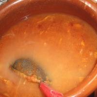 柿酢を濾す