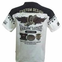 vanson バンソン Tシャツ ウィング ワッペン NVST-707