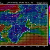 1月21日 アメダスと天気図。