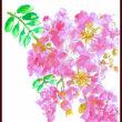 猛暑の中 サルスベリの花