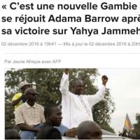 ガンビアという国(10)〜ジャメ大統領、大統領選挙の敗北を認め政権移譲。最後のサプライズ?!