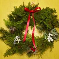 ガーデニングエプロン、ネックカバー&クリスマスリース