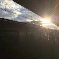 朝の散歩をして電車に乗りましたイオンマリンピアに行きます。