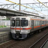 10月23日朝の普通列車 (地元天竜川駅)