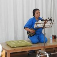 慰問公演、貴女はすばらしかった!大城幸子さんに感動した日!新作民謡を三曲披露!