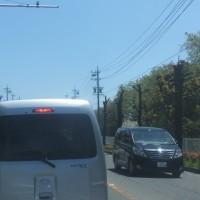 鈴鹿サーキット周辺は、朝から混雑していました。