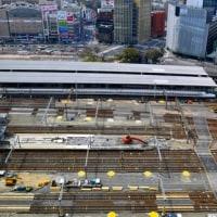 リニア中央新幹線名古屋駅工事で在来線ホームを一部撤去