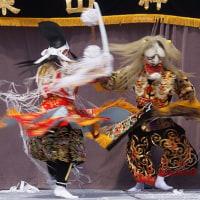 比治山桜咲け祭り-1 神楽「土蜘蛛」 170326