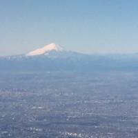 機上からの富士山!