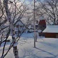 吹雪の晴れ間
