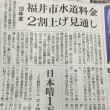 安倍政権の疑惑隠しは許されない‼️  福井市の水道料値上げ計画と市民負担