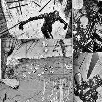 伝説の漫画「ブラム!」 アーマード忍者っぽいスタイルの「スチフ」 VS セーフガード