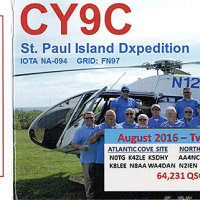 近着QSL(紙) CY9C - St.Paul Island DXpedition
