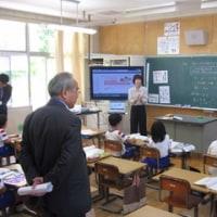町教育委員会のみなさんに学校の様子を見ていただきました!