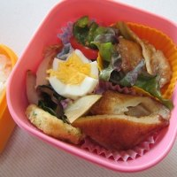 鶏肉のネギマヨポン炒め弁当