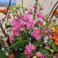 ロビーに春の花束♪ !(^^)!
