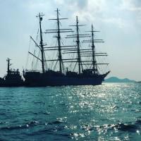 海王丸 福山港へ入港