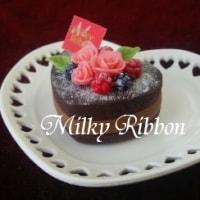 ハートのチョコレートケーキ