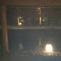 京都は雪❄️、露天風呂一番