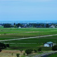 河岸段丘上の立山町新瀬戸地区、天上の「農と陶の里」・・・立山町新瀬戸地区