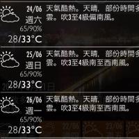 週末澳門の天気予報は…