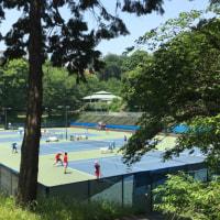 オレンジ柄のキューブティッシュ&大学敷地内のランニング
