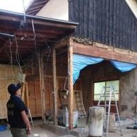 倉敷市玉島上成での住宅リフォーム現場でも解体工事にひと際