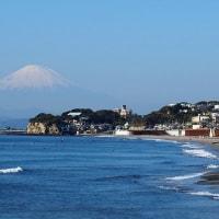 富士山の眺め(七里ヶ浜海岸)