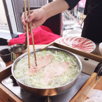 2017年2月18日   銀座三越  富貴堂     黒豚しゃぶしゃぶ「羅豚」  グラッセ店