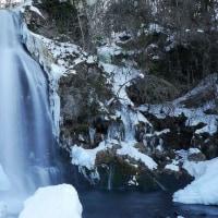木曽町開田高原 尾ノ島の滝 氷瀑