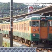 岡山の列車(115系湘南色)