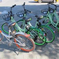 新緑の季節だから緑色の自転車も出たぁ