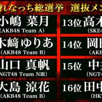 第1位 小栗有以ちゃん!『れなっち総選挙』選抜メンバー16名が発表(立候補者168名)