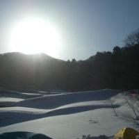 大山 快晴の雪山