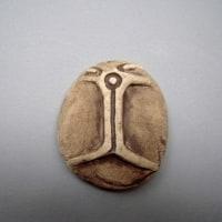 秋の鎌倉古美術展に持っていきますー縄文時代の岩版ー