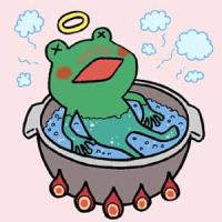 ○ Boiling Frog and Snake// ゆでガエルの意識を変えるのは簡単だ。ヘビを放り込めばいい