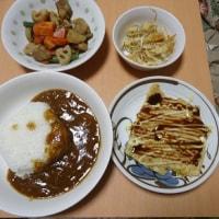 シーフードカレーの晩御飯